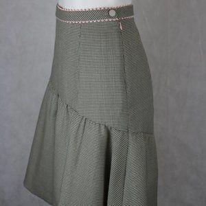 REBECCA TAYLOR houndstooth godet skirt | 2